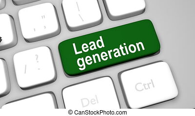 Generate lead online shot clip