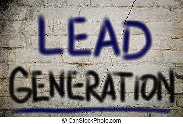 generatie, concept, lood