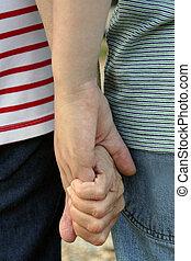 generatie, handen