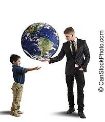 generatie, nieuw, helpen