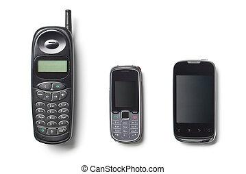 generation, cellphones, sätta, tre