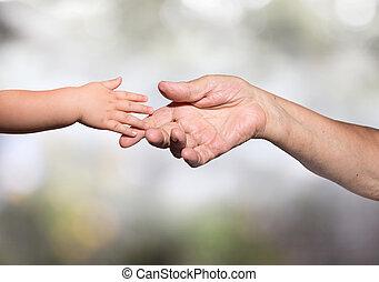 generation, tillgivenhet, -, old-new