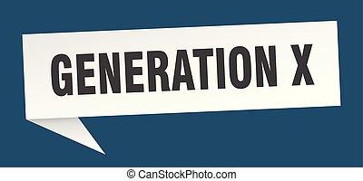 generation x speech bubble. generation x sign. generation x...