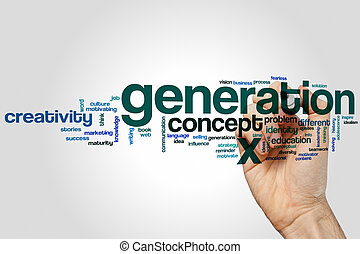 Generation x word cloud concept