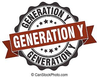 generation y stamp. sign. seal