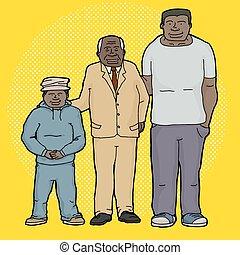 generationen, drei, familie