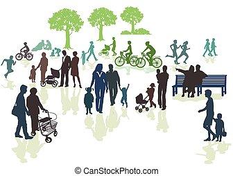 generationen, natur, der, im
