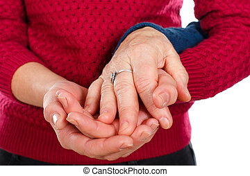 Generations - Close up picture of a senior woman's hands...