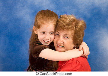 Generations: grandmother with her granddaughter