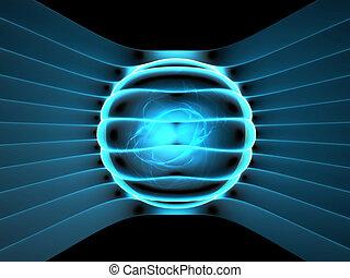 generator, energie, begriff, abstrakt, abbildung