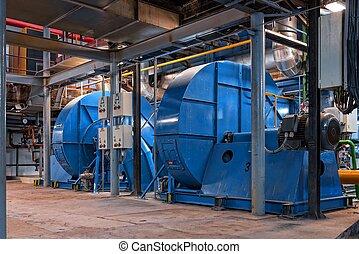 Generator inside power plant