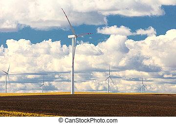 generatore potere, energia, produzione, rinnovabile, turbina, vento