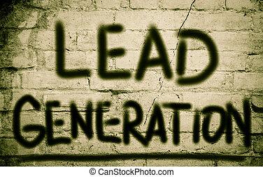 generazione, concetto, piombo
