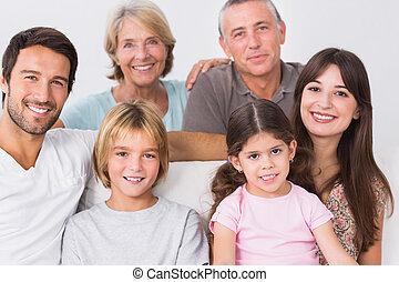 generazione, ritratto, tre, famiglia