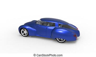 Generic and futuristic model of car - Generic and futuristic...