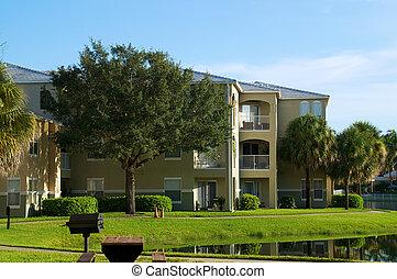generic apartment building in florida