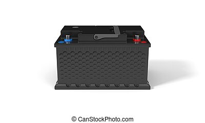 generic car battery. 3d illustration