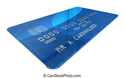 Generic Credit Card - An extreme closeup of a blue generic...