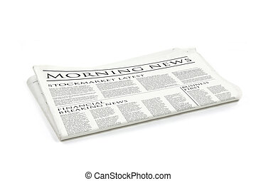 newspaper - Generic design of a newspaper called morning...