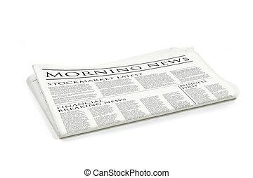 newspaper - Generic design of a newspaper called morning...