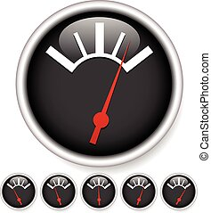 Generic dial, gauge, guage. Measurement, level indicators....