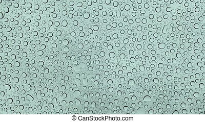 Drops Bubbles of Water on bright white background, Generic View of Water pearls, Static still shot of Nature Element dew, 4K