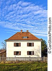 generic family home in suburban area