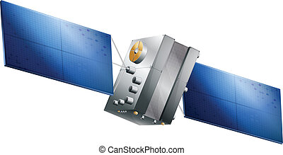 Generic GPS satell - Drawing of a GPS satellite