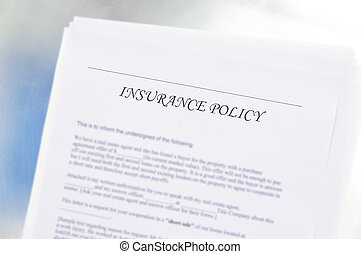generic insurance policy document. Could be Health, Auto, Life etc