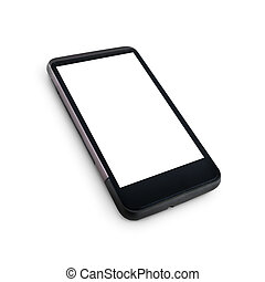 Generic mobile phone with blank screen - Generic mobile...