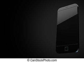 Generic Modern Smartphone - A 3D render of a modern all...