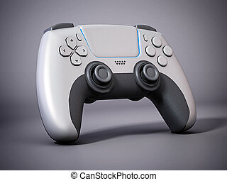 Generic next gen video game controller. 3D illustration.