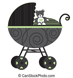 Generic Pram  - Illustration of a pram.