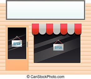 Generic small shop vector icon