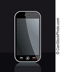 Generic Smart Phone on black