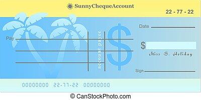 sunny cheque