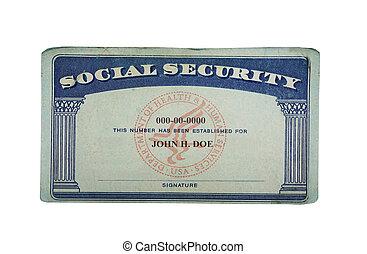 Generic US social security card
