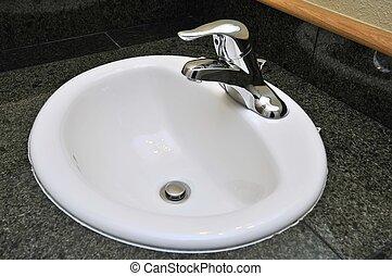 Generic wash basin  - Generic white wash basin.