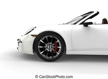 Generic white car - Generic white sport car isolated on a...