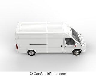Generic white van - top down view
