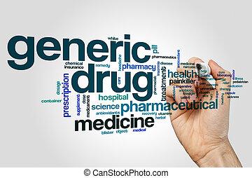 generisch, medicijn, woord, wolk