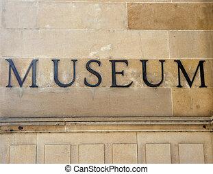 generisch, museum, zeichen