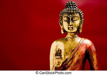 generisch, zen, boeddha, standbeeld