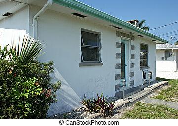 generiske, 1950s, florida, hjem