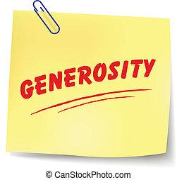 generosidad, mensaje, vector