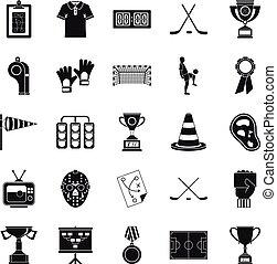 generosità, icone, set, cartone animato, stile