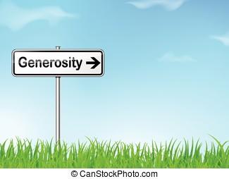generosità, segnale direzione
