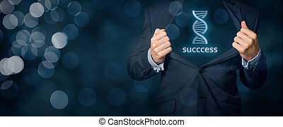 Genes for success - Businessman shows he has genes (talent,...