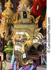 Genesha mask - Hua Khon of Genesha (Thai Traditional Mask)...