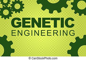 Genetic Engineering concept - GENETIC ENGINEERING sign ...